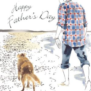 TFD11  Fathers Day Card with Dog